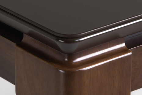 Mesa de Jantar Float c/ Vidro – Imbuia