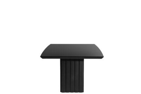 Mesa de Jantar Lucerna Preto com Vidro