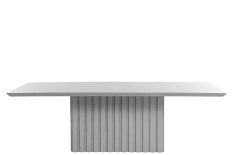 Mesa de Jantar Lucerna Branca com Vidro
