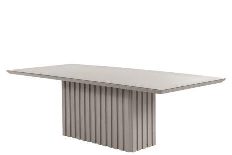 Mesa de Jantar Lucerna Off-White com Vidro